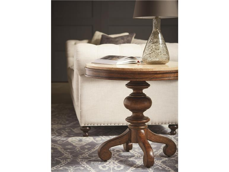 Tuscan Round End Table
