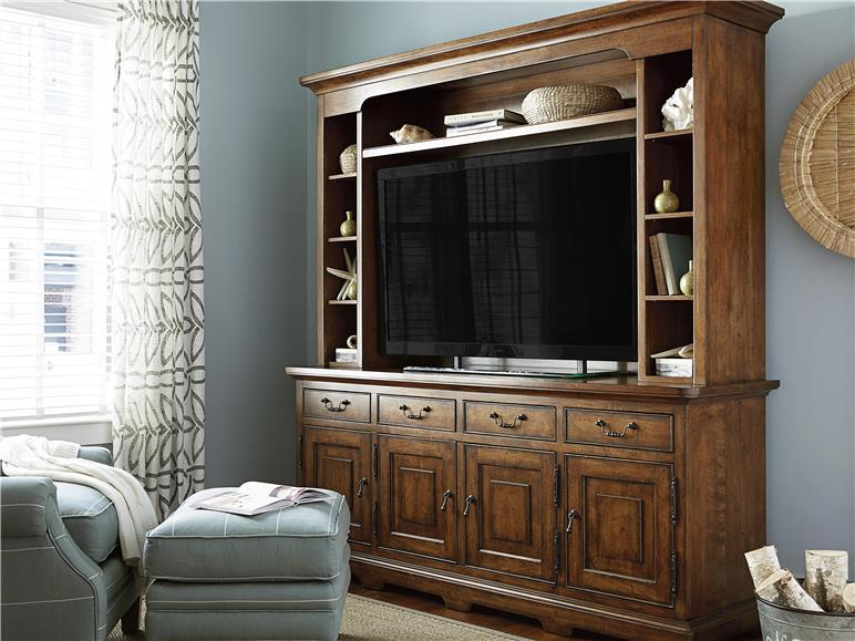 Entertainment Console with Deck