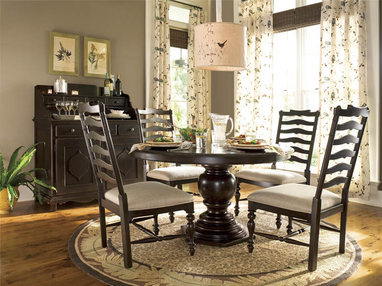 universal furniture | paula deen home | round pedestal table
