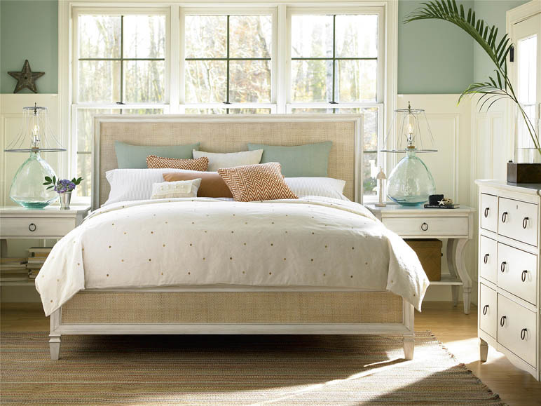 Universal furniture summer hill cotton bedroom for Coastal bedroom design