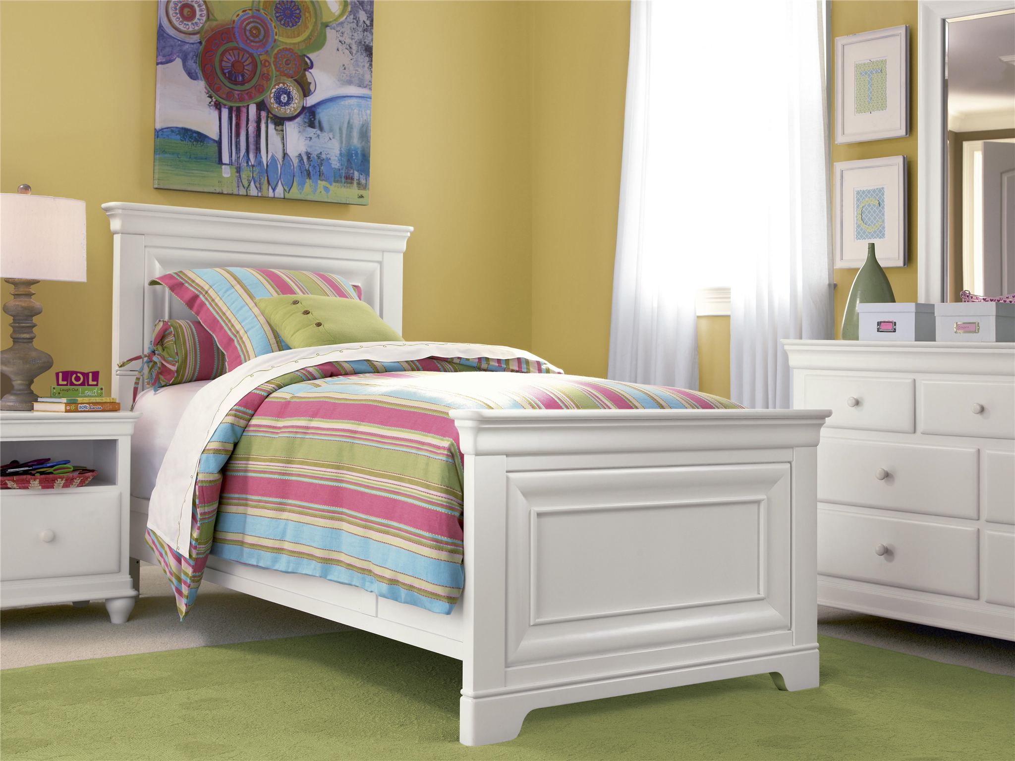 smartstuff furniture classics 4 0 twin panel bed 20140 | 131a yu rs14 035 002 032 080 vm 001