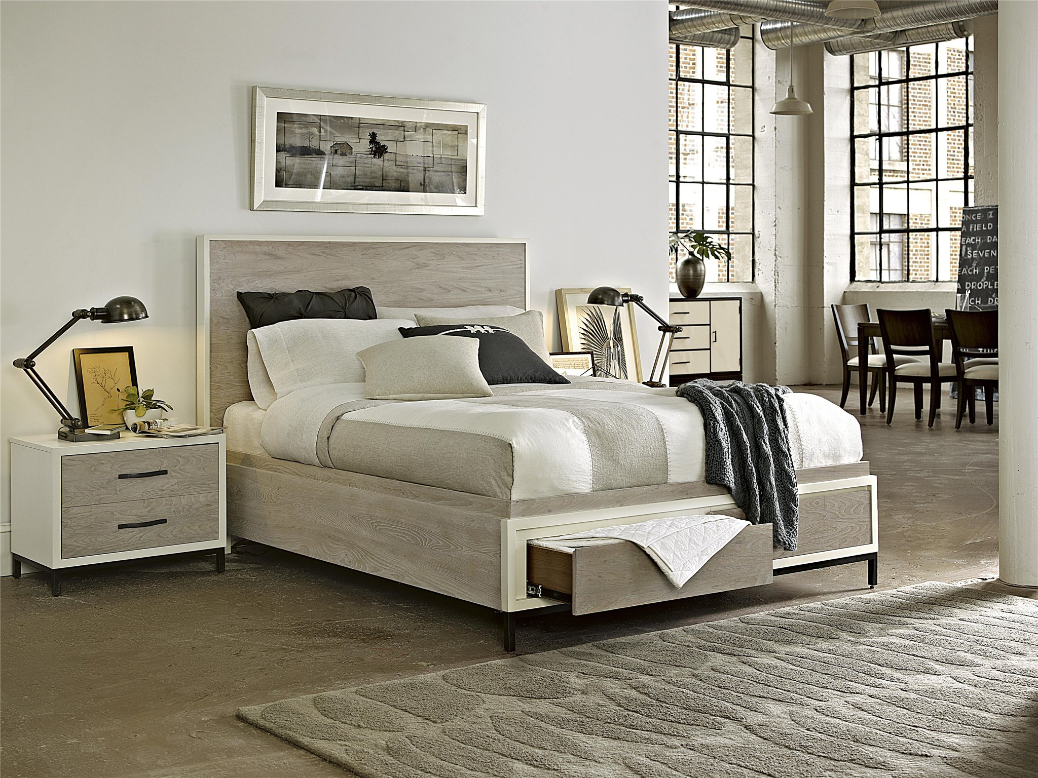 Universal Furniture Curated Spencer Storage Bed Queen