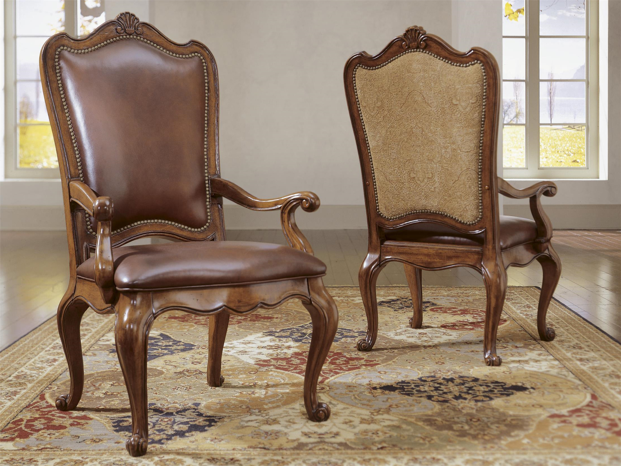 Camel Leather Dining Chair