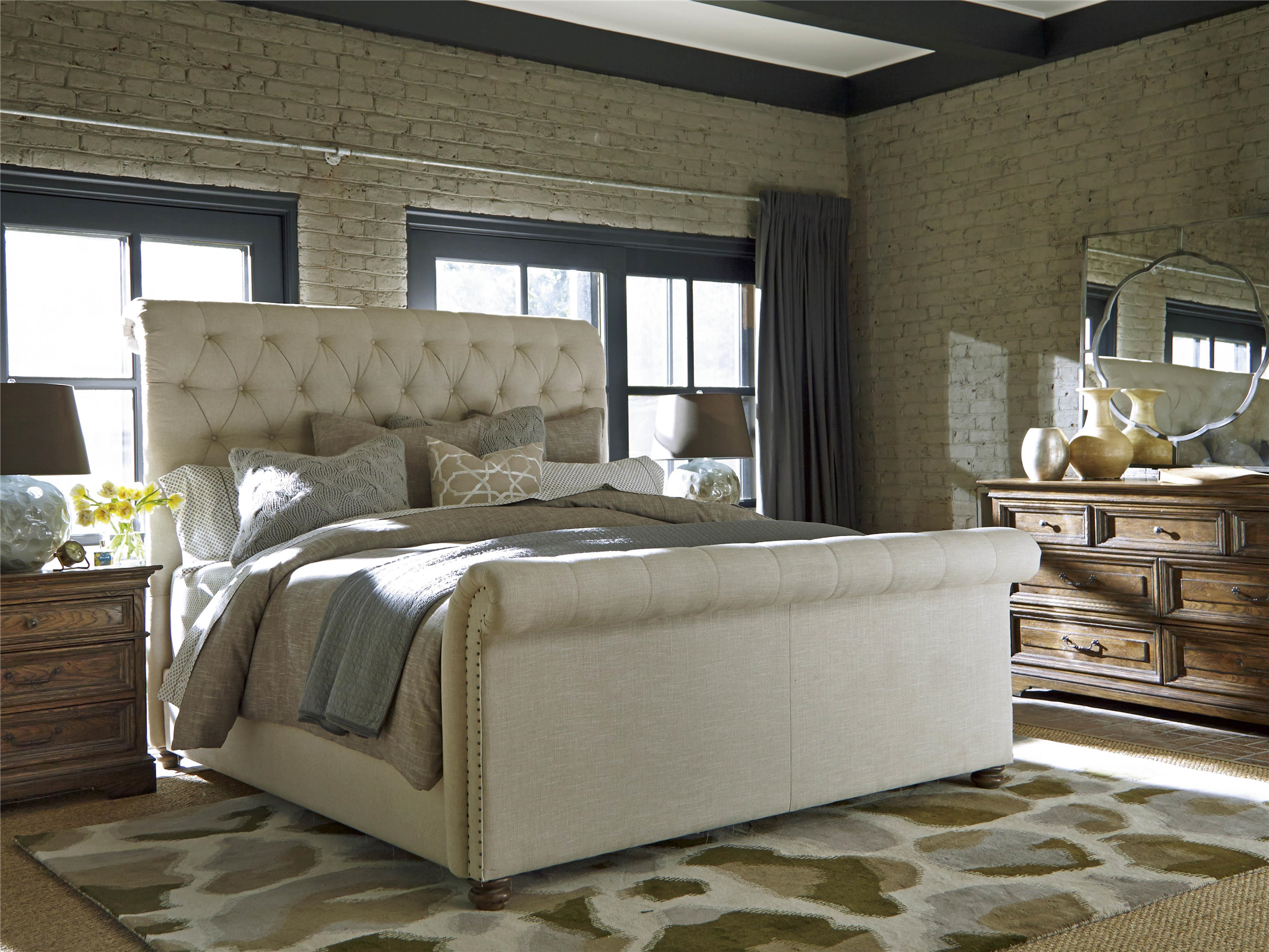 universal furniture curated the boho chic bed queen