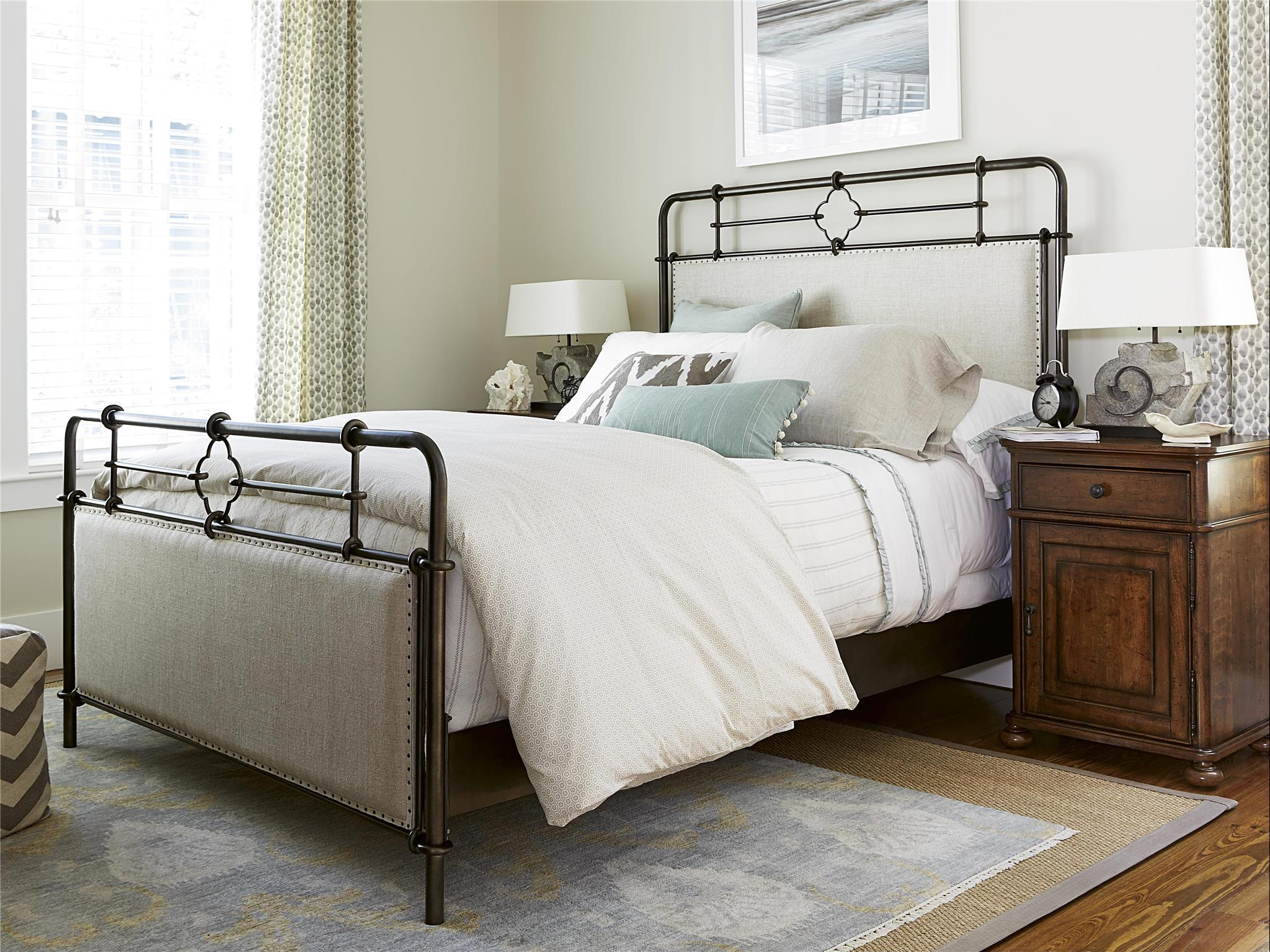 Curated Upholstered Metal Queen Bed Universal Furniture