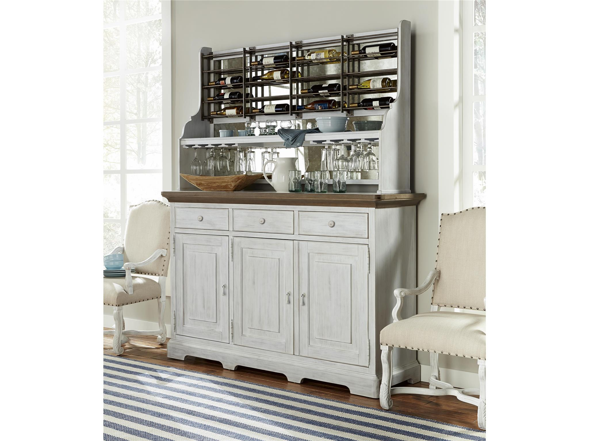credenza with rack loading zoom - Wine Credenza