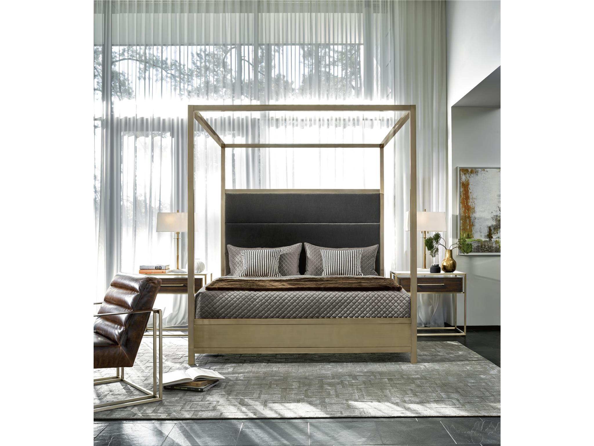 Universal Furniture Modern Harlow King Canopy Bed