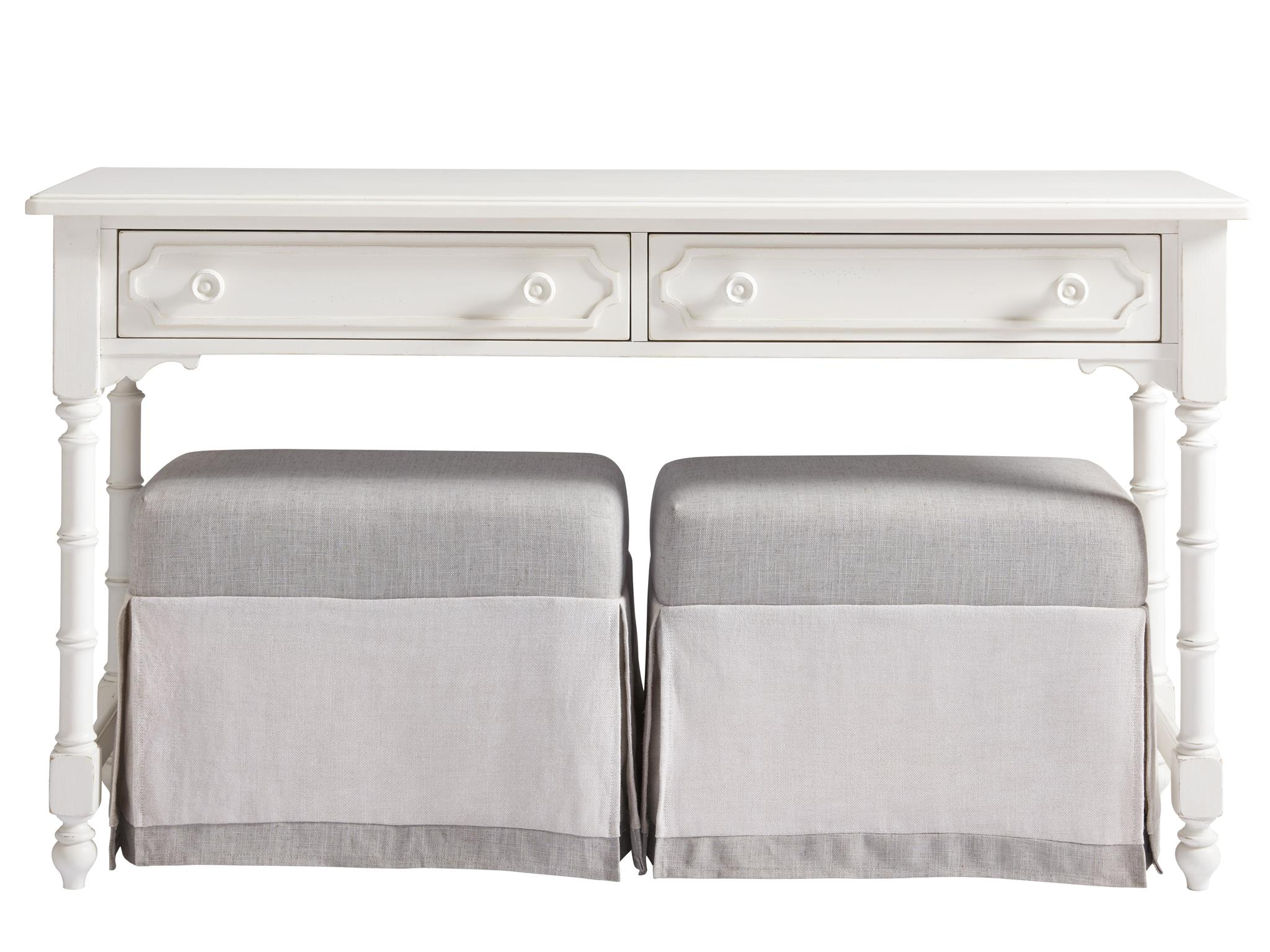 Cottage-Paula Deen Home Console with Benches | Universal Furniture