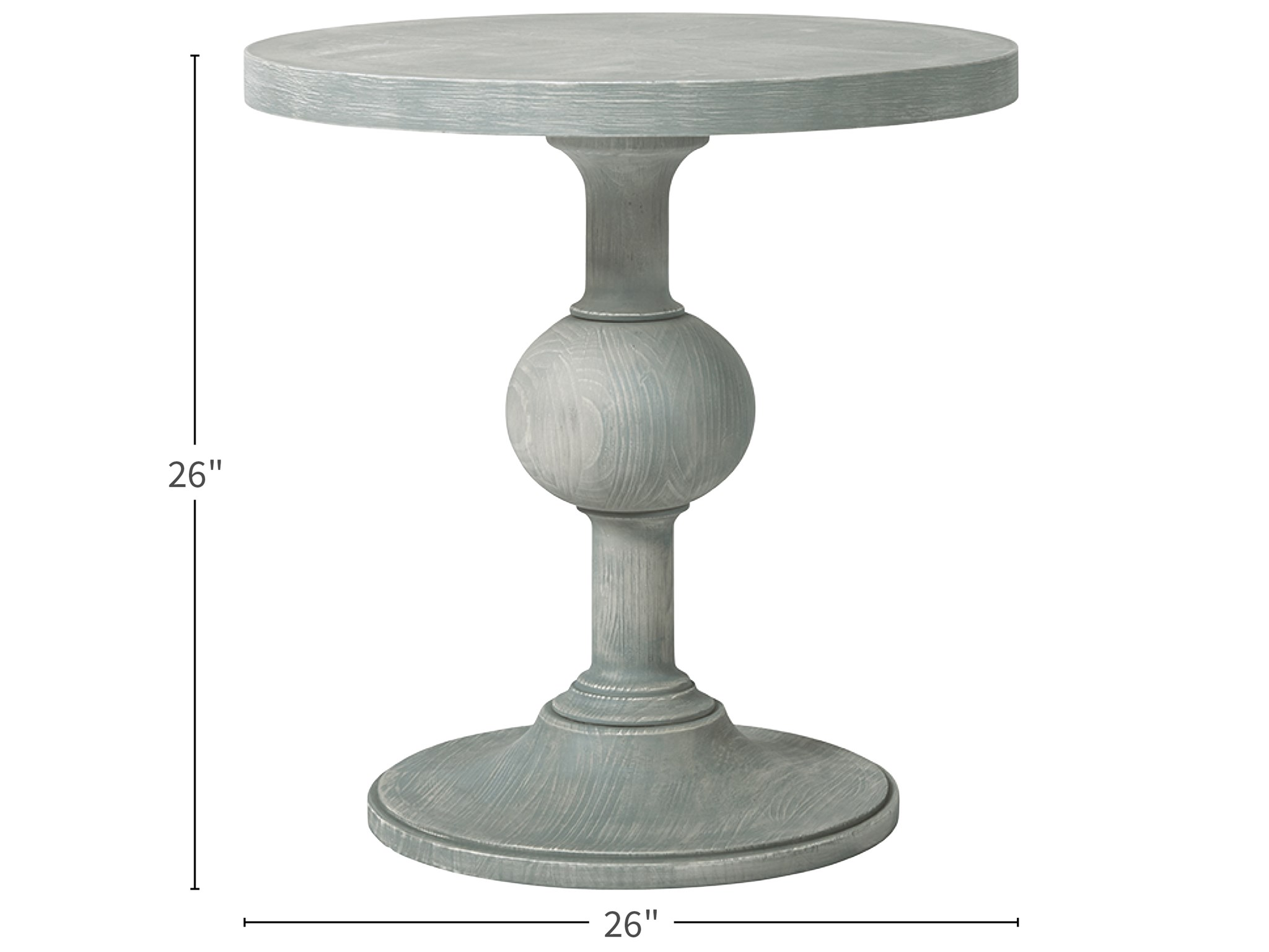 - Escape-Coastal Living Home Collection Round Pedestal End Table