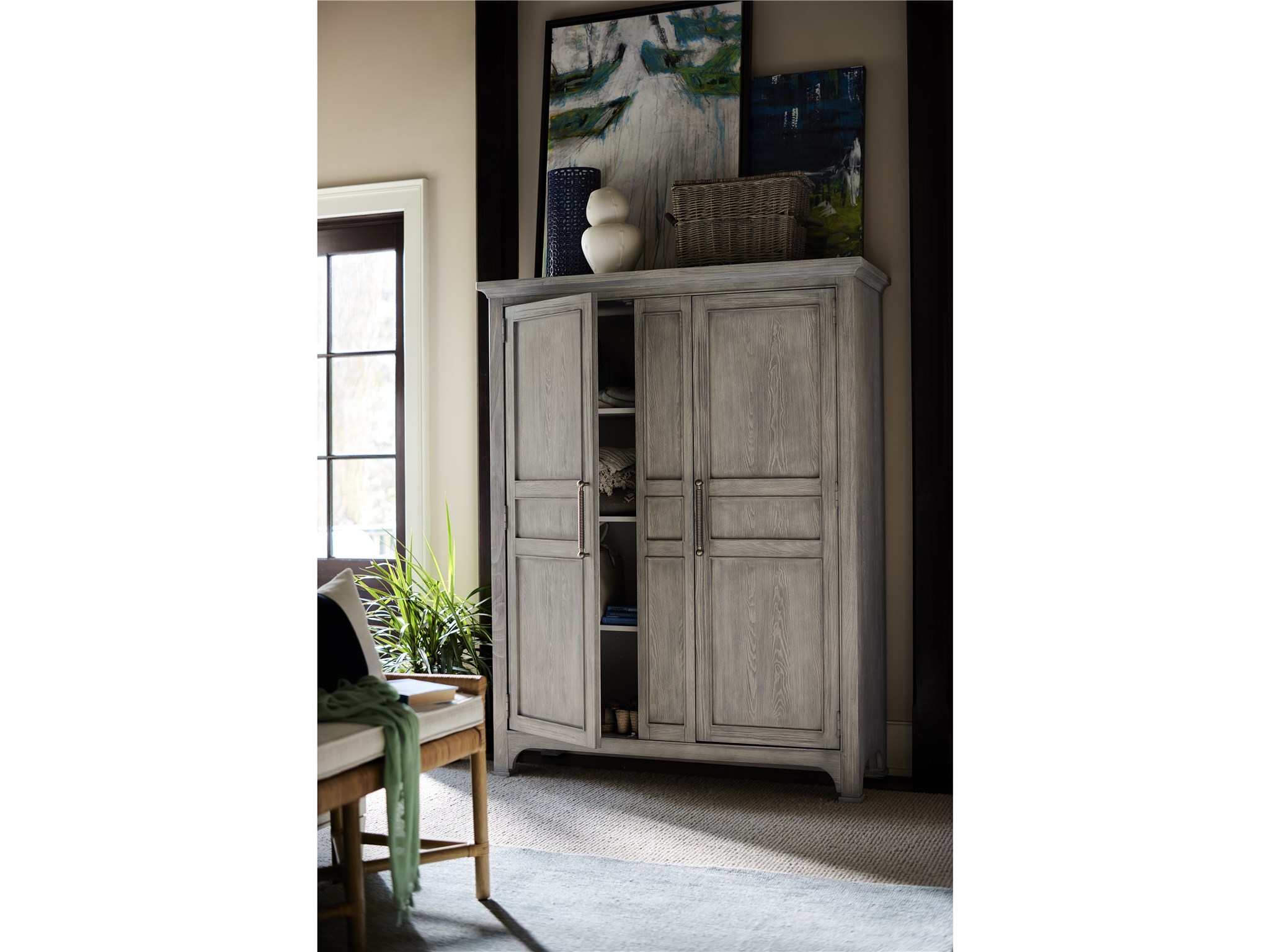 Escape Coastal Living Home Collection Wide Utility Cabinet