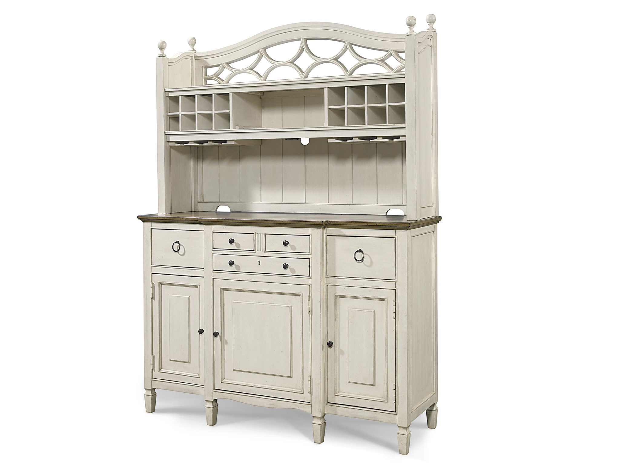 Universal furniture summer hill summer hill serving buffet with bar hutch Home furniture from china