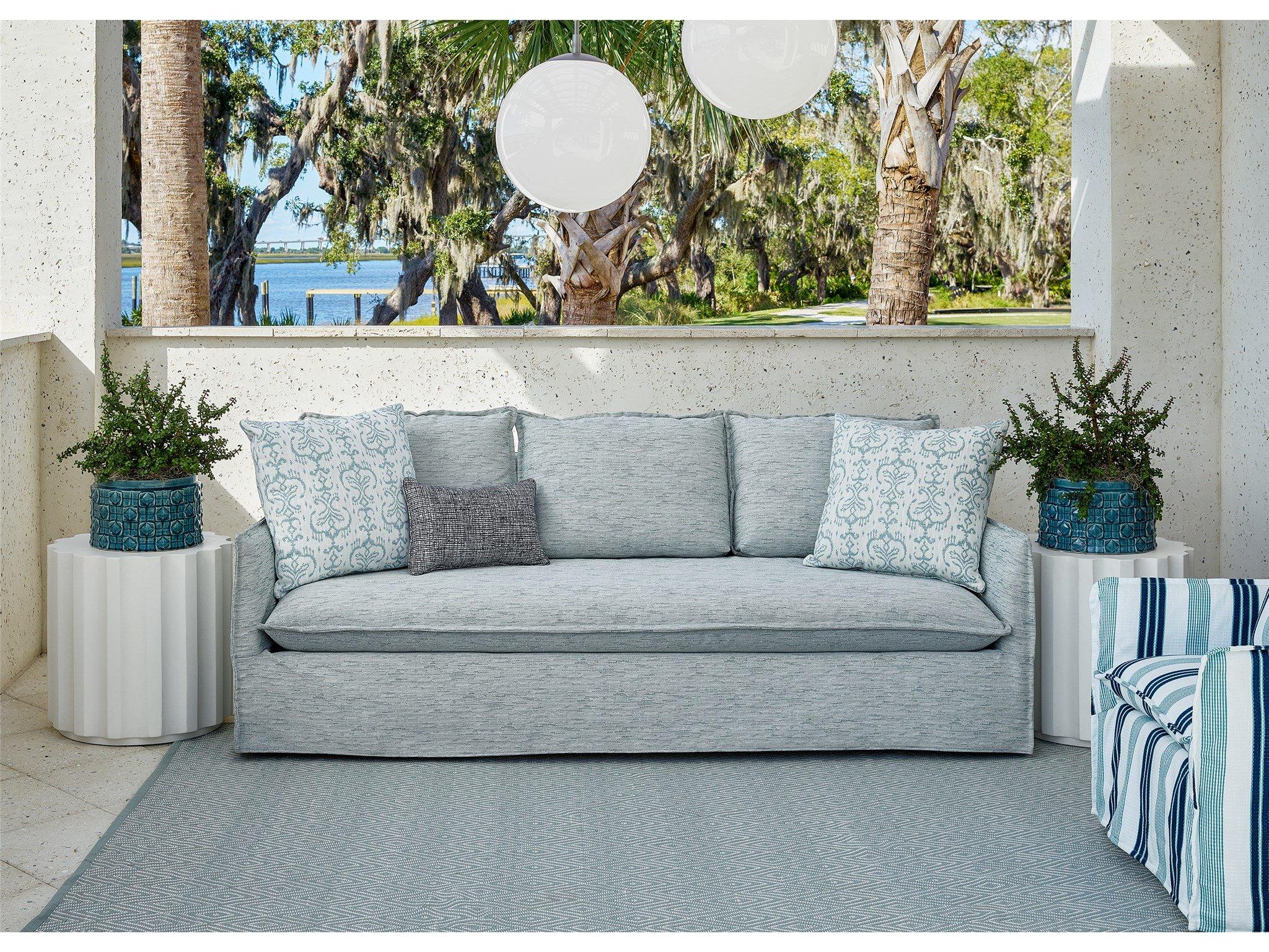 Siesta Key Slipcover Sofa OD - Special Order