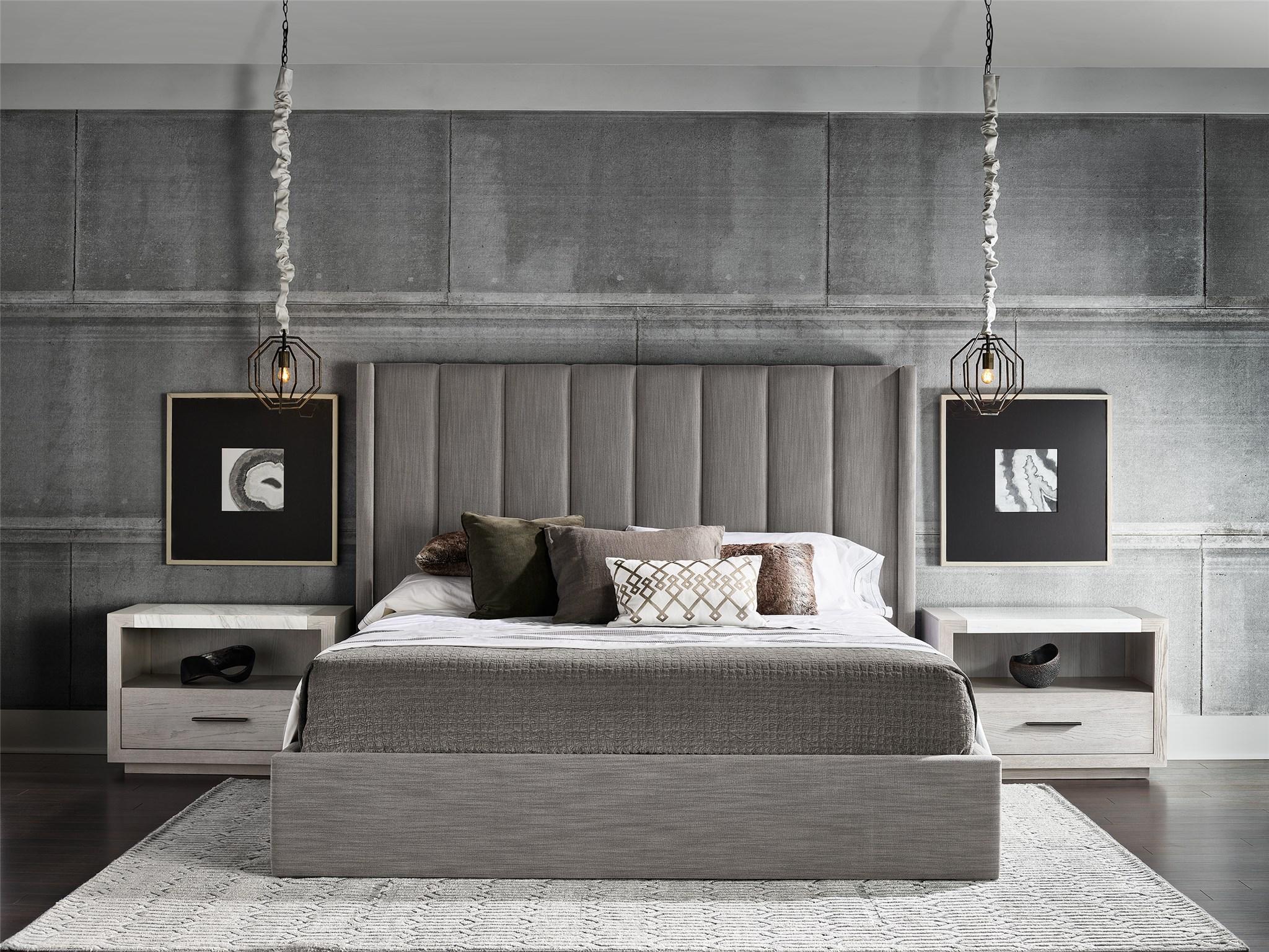 Upholstered Shelter Queen Bed