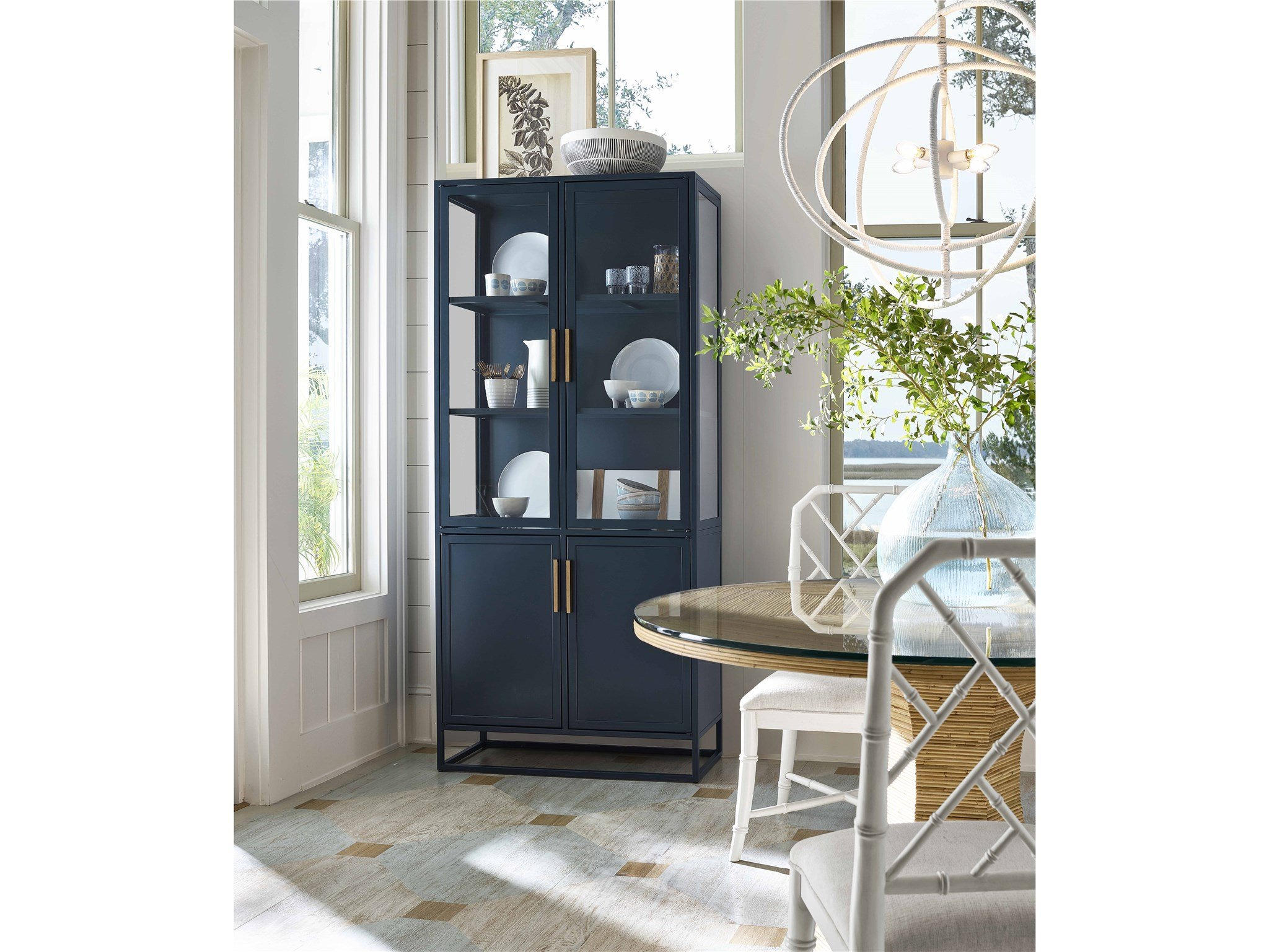 Santorini Tall Metal Kitchen Cabinet