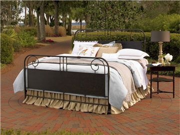 Garden Gate Metal Bed (King)