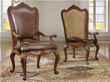 Thumbnail Leather Upholstered Back Arm Chair