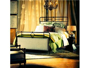Thumbnail Upholstered Metal Bed (King)
