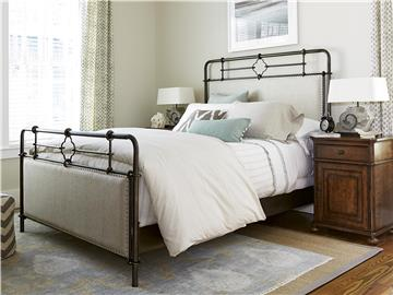 Thumbnail Upholstered Metal Queen Bed