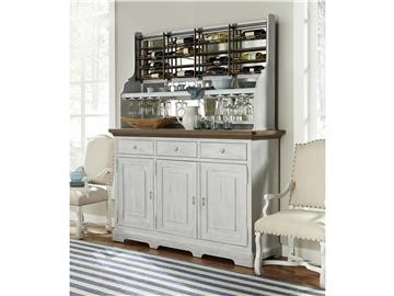 Thumbnail Credenza with Wine-On-The-Wall Rack