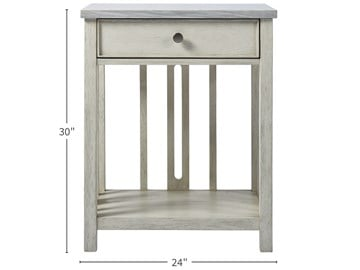 Thumbnail Bedside Table with Stone Top