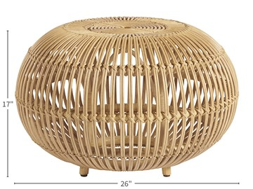 Thumbnail Small Rattan Scatter Table