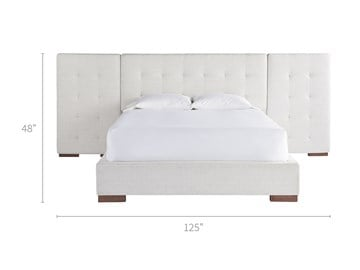 Brantley Bed with Wall Panels Queen 50