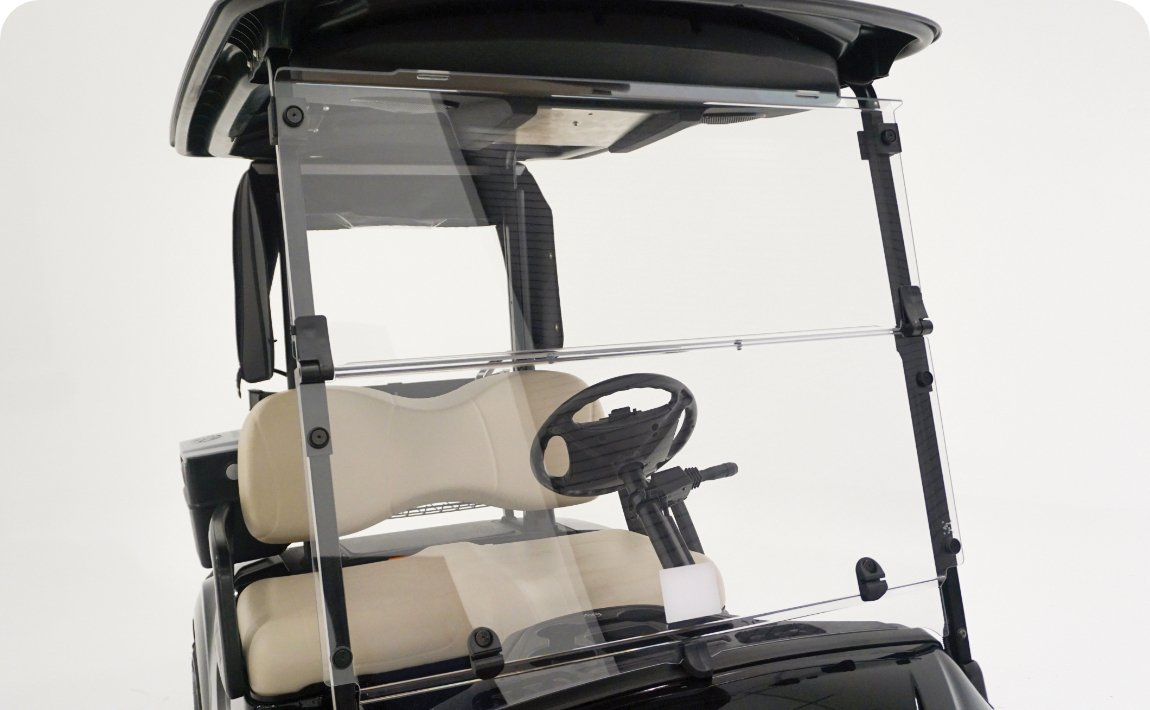 Polycarbonate Windshield, Clear Hinged